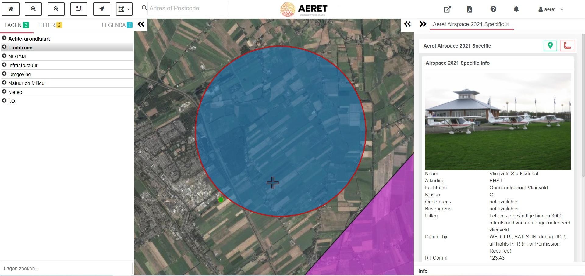 drone preflight pro kaart ongecontroleerd vliegveld zweefvliegen mla hangglider open specific
