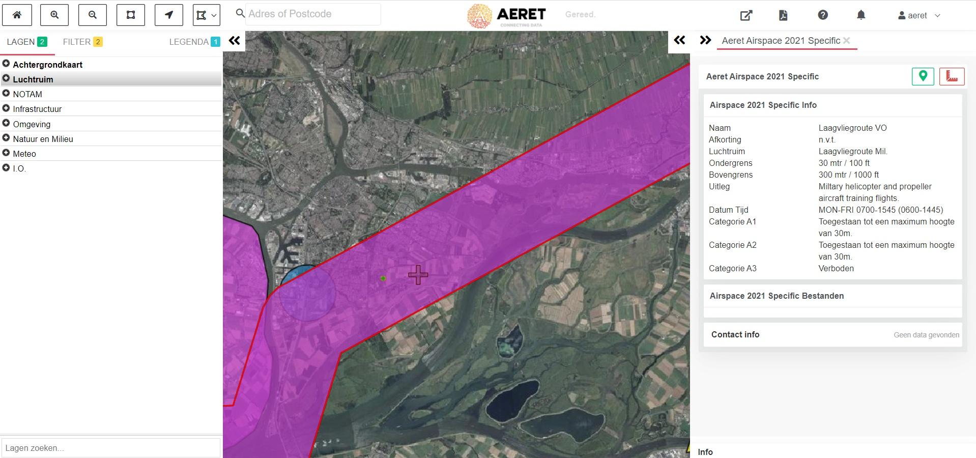 drone preflight pro laagvlieg gebied militair open specific kaart