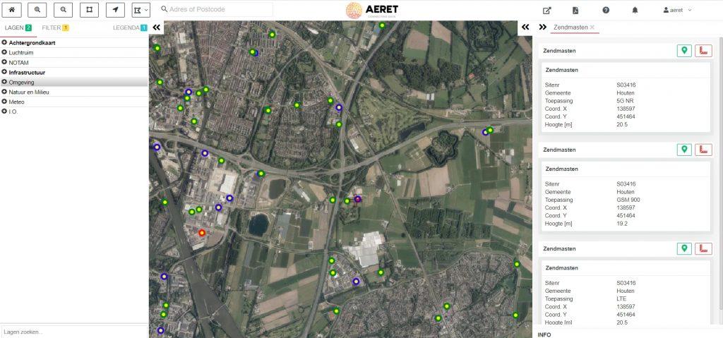 drone preflight pro locatie zendmasten 5g umts gsm drone kaart obstakel