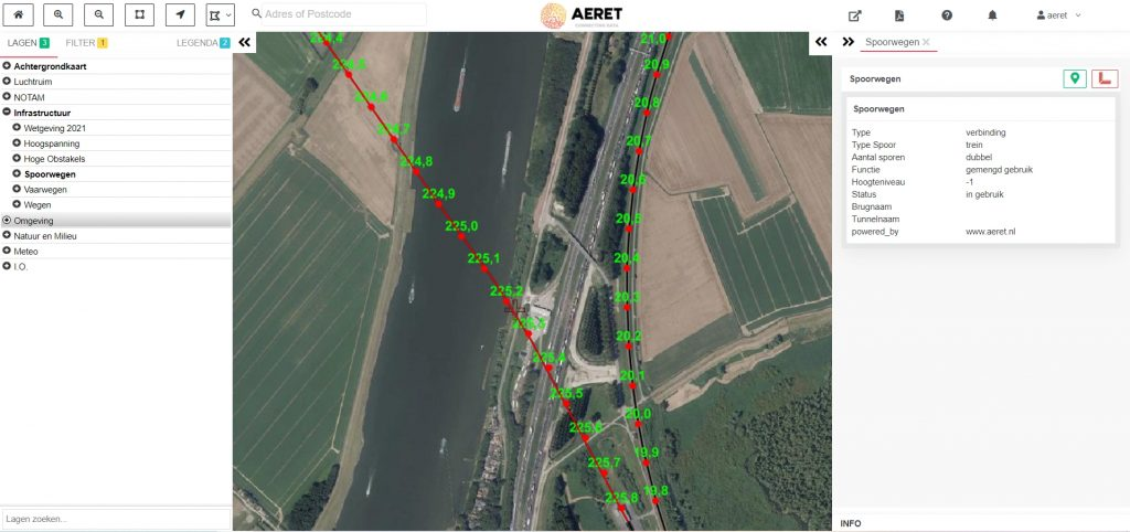 drone preflight pro spoorwegen infrastructuur kaart no fly zone open specific a1 a2 a3 afstand 150 75 meter