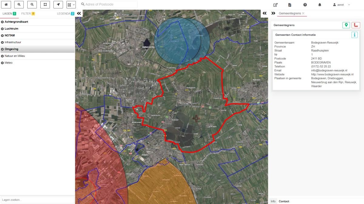 drone preflight pro gemeentegrens kaart no fly zones gemeente naam contact informatie drone vliegen