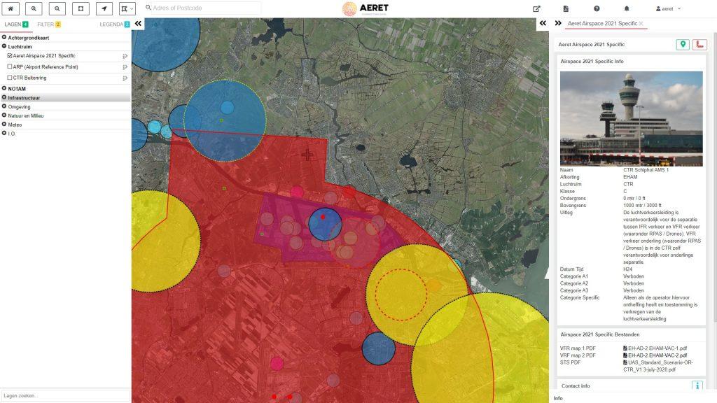 drone preflight pro schiphol kaart no fly zone open a1 a2 a3 specific