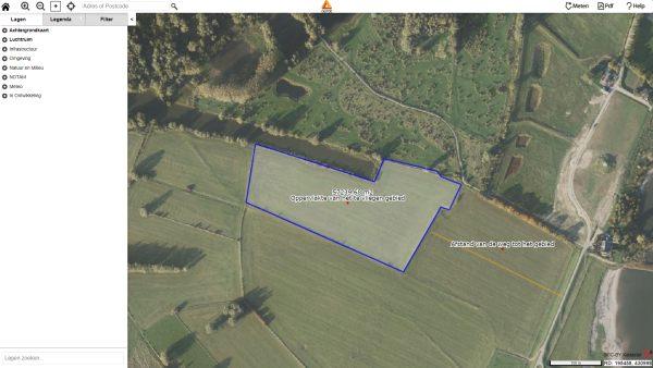 drone preflight tekenen kaart afstand oppervlakte lengte