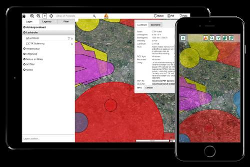 aeret drone preflight pro kaart no fly zones kaart app vluchtvoorbereiding