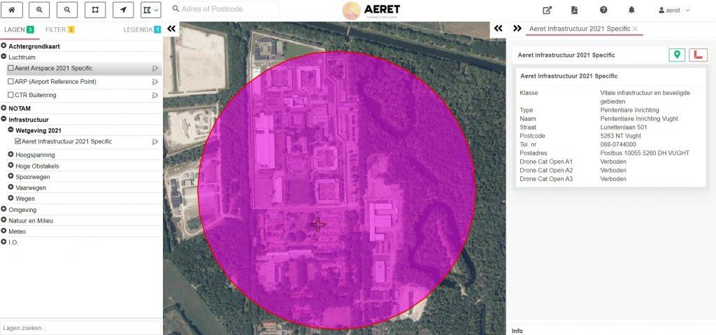 drone preflight pro kaart gevangenis no fly zone drone open specific