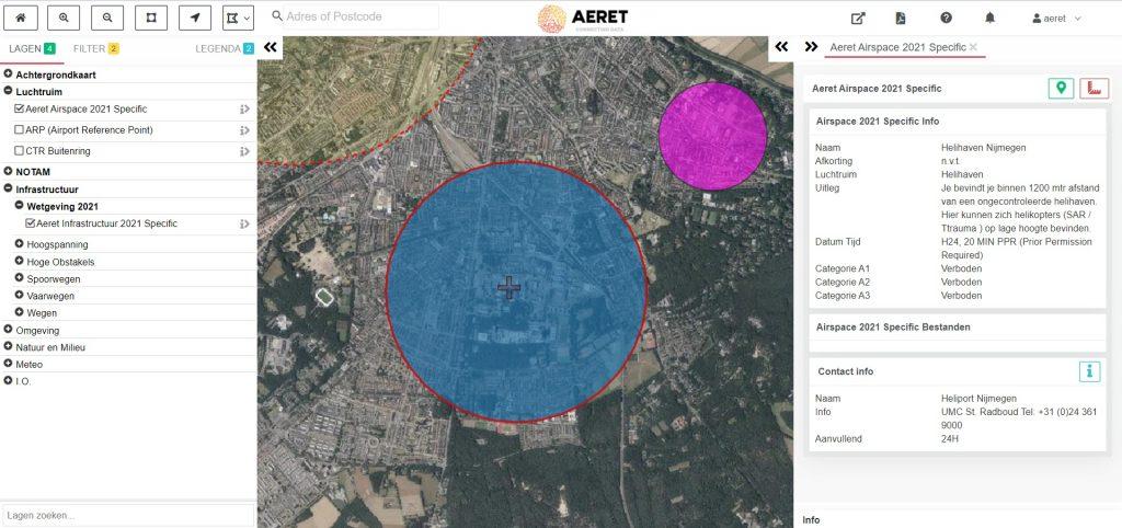 drone preflight pro kaart helihaven heliport trauma helikopter ziekenhuis
