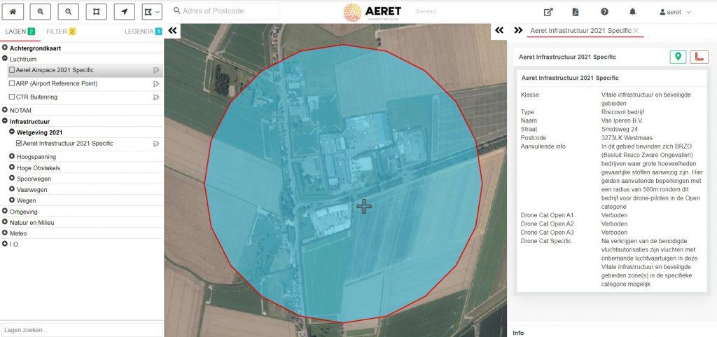 drone preflight pro kaart industrie brzo risico open specific