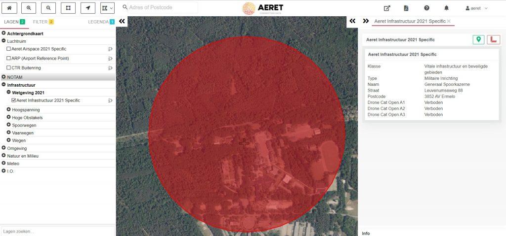 drone preflight pro kaart no fly zone militair gebied kazerne open specific a1 a2 a3