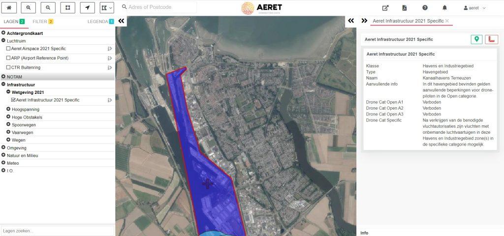 drone preflight pro kaart zeehaven haven gebieden open specific no fly zone