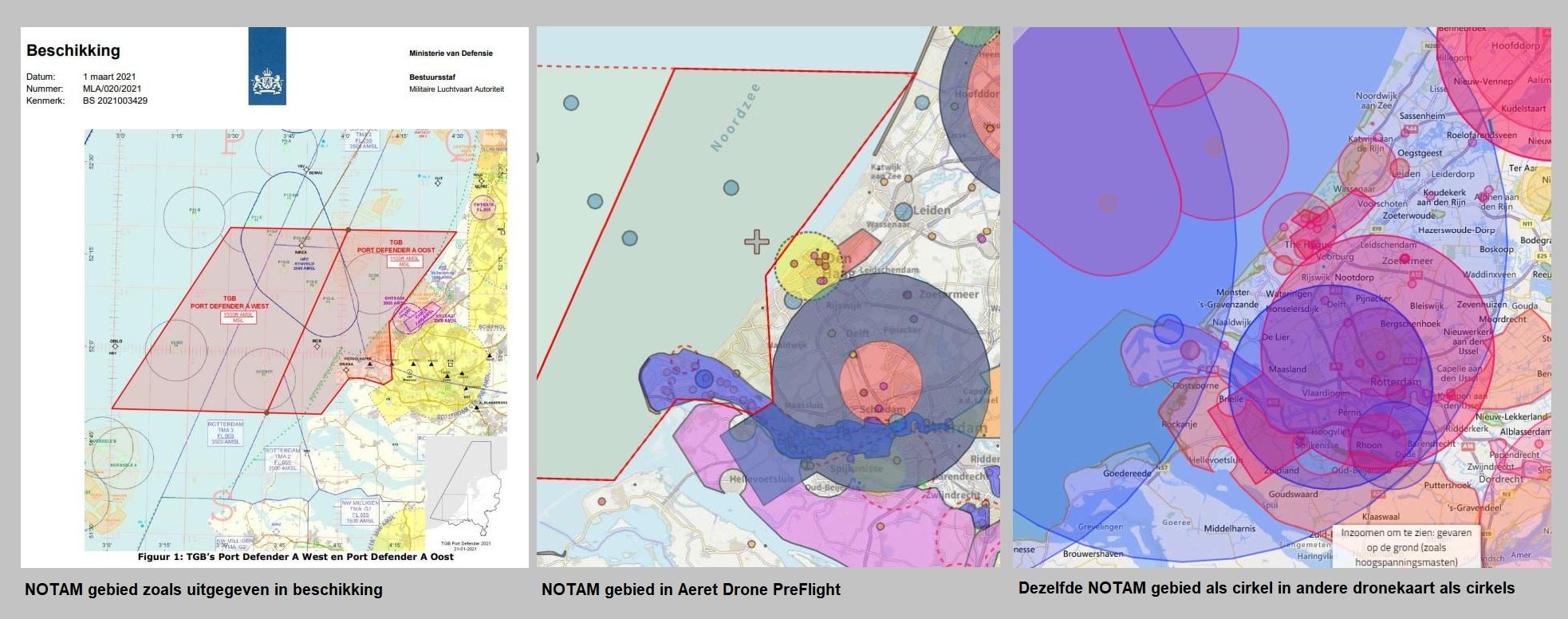 NOTAM gebied kaart aeret drone preflight kaart gis map